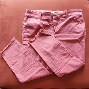 LOFT girlfriend chinos pink size 10